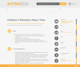 Children's Planetary Maps: Titan