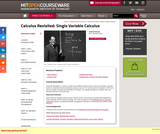 Calculus Revisited, Fall 2010