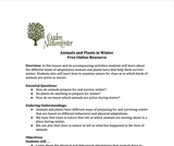 Ogden Nature Center: Animals and Plants Prepare for Winter Lesson Plan