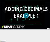 Arithmetic Operations: Adding Decimals Example 1