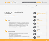 Evening Sky Watching for Students