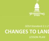 2.1.2 Lesson Plan - Changes to Landforms