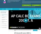 Calculus - AP Practice: BC Sample Questions