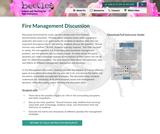 Fire Management Discussion
