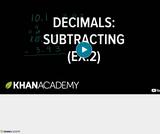 Arithmetic Operations: Subtracting Decimals Example 2