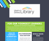 Utah's Online Library PreK-2 Resources One-Pager