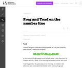 2.MD Frog and Toad on the number line