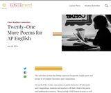 Twenty-One More Poems for AP English