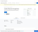 Create a Resume in Google Docs