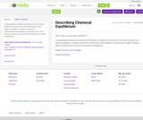 Describing Chemical Equilibrium