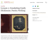 Lesson 3: Emulating Emily Dickinson: Poetry Writing
