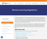 Remote Learning Adaptations - OpenSciEd Middle School Science