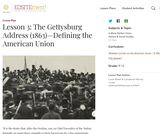 Lesson 3: The Gettysburg Address (1863): Defining the American Union