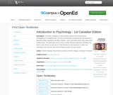 Introduction to Psychology - 1st Canadian Edition