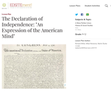 """The Declaration of Independence: """"An Expression of the American Mind"""""""