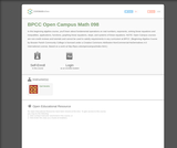 Beginning Algebra (BPCC Open Campus: Math 098)