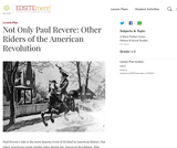 Not Only Paul Revere: Other Riders of the American Revolution