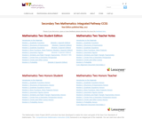 Mathematics Vision Project: Secondary Math II Integrated Pathway CCSS