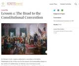 Lesson 1: The Road to the Constitutional Convention