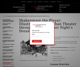 Shakespeare the Player: Illustrating Elizabethan Theatre through A Midsummer Night's Dream