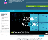 Adding vectors algebraically & graphically