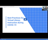 Utah State Library: Best Practices for Virtual Library Instruction During COVID-19