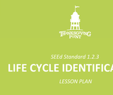 1.2.3 Lesson Plan - Life Cycle Identification